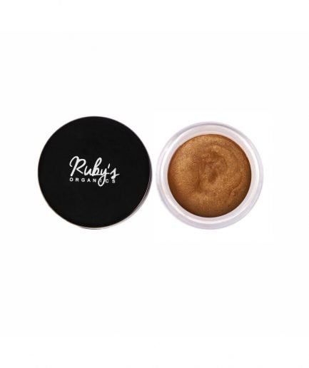 Ruby's Organics Creme Bronze highlight shade tone shine lips eye eyelid cheeks organic makeup