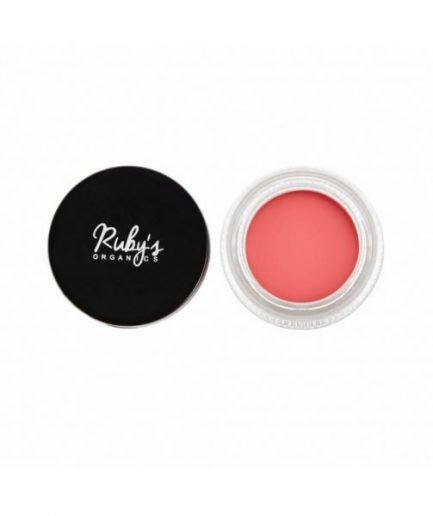 Ruby's Organics Creme Blush - Poppy Pink colour shade cheeks makeup blush organic rosy tone