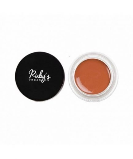 Ruby's Organics Creme Blush - Tan brown shade eyes glitter cheeks face makeup organic