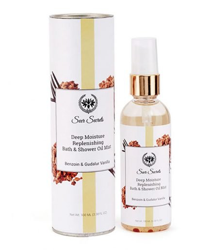 Seer Secrets Deep Moisture Replenishing Bath & Shower Oil with Benzoin & Gudalur Vanilla