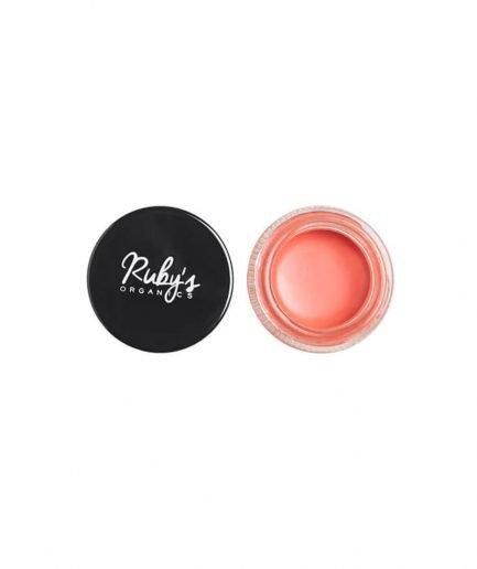 Ruby's Organics Creme Blush - Peach highlight blush pink peach organic makeup cream shade tone india makeup cheeks face