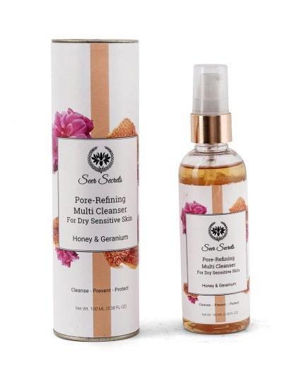 Seer Secrets Honey & Geranium Pore-Refining Multi Cleanser face wash clean organic skincare