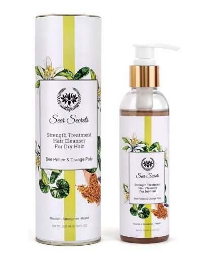 Seer Secrets Strength Treatment Hair Cleanser with Bee Pollen & Orange Pulp dry-hair hair growth