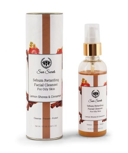 Seer Secrets Facial Cleanser with Lemon Shorea Cinnamon oily-skin hydrate clean skin glow radiant