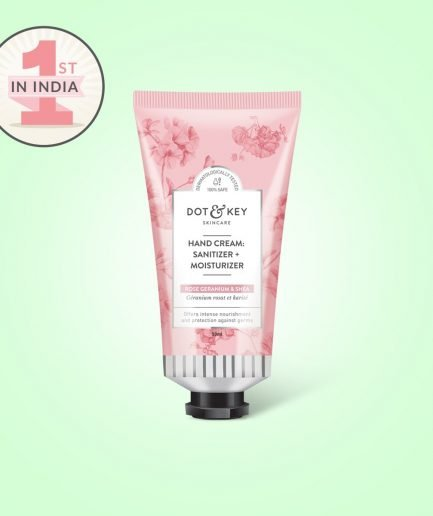 Dot & Key Hand Cream : Sanitizer + Moisturizer (Rose)