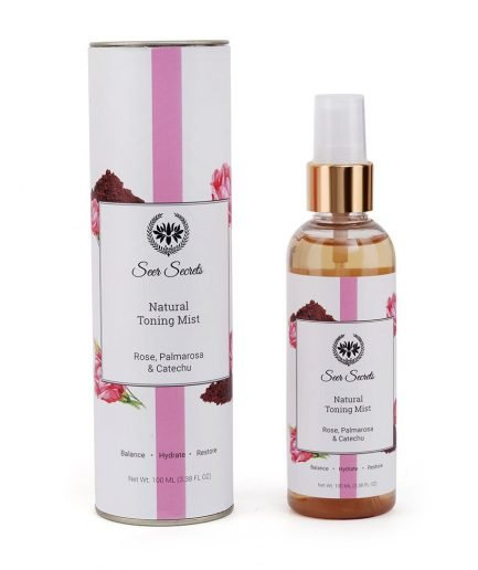 Seer Secrets Natural Toning Mist with Rose, Palmarosa & Catechu spray tone hydrate skin
