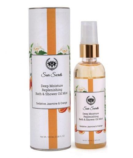 Seer Secrets Deep Moisture Replenishing Bath & Shower Oil with Sedative Jasmine & Orange