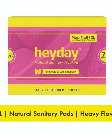 HEYDAY Organic Maxi Fluff Sanitary Pads XL (Pack of 7)