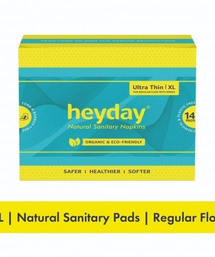 HEYDAY Organic Ultra Thin Sanitary Pads XL (Pack of 14)