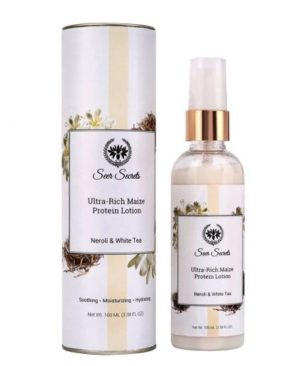 Seer Secrets Ultra Rich Maize Protein Lotion - Neroli & White Tea (100ml) dry skin makeup