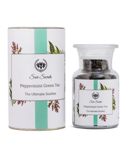 Seer Secrets Peppermint Green Tea 50 gram organic herbal chai