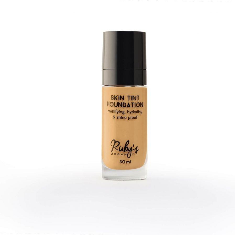 Ruby's Organics Foundation M 02 medium skin tones neutral undertones shade foundation face makeup organic vegan india cosmetics colours
