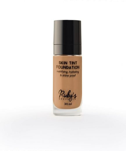 Ruby's Organics Foundation MD 02.5 makeup shade medium dark deep undertones shade smooth transfer-proof colour vegan india organic makeup cosmetics