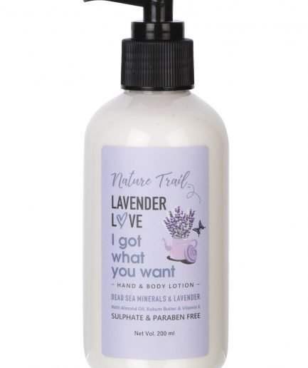 Nature Trail Lavender Love Hand and Body Lotion (Natural,Organic and Paraben-Free) (200ml)
