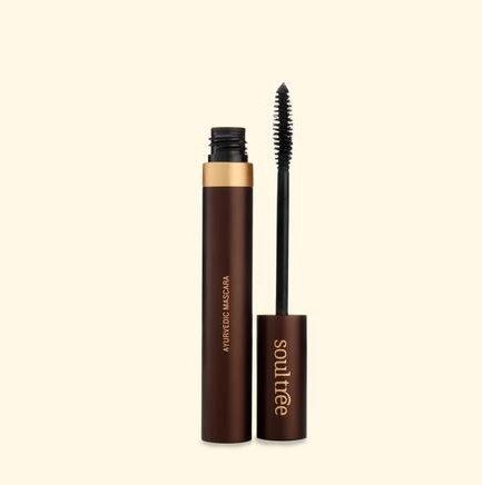 Soultree Pure Black Mascara organic makeup vegan jet-black smooth longer lashes