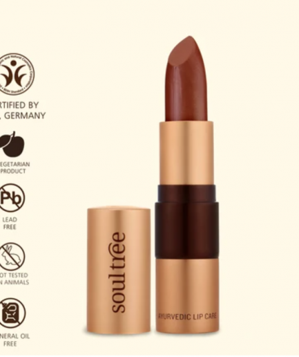 Soultree Lipstick Copper Mine shade colour tone makeup vegan cosmetics