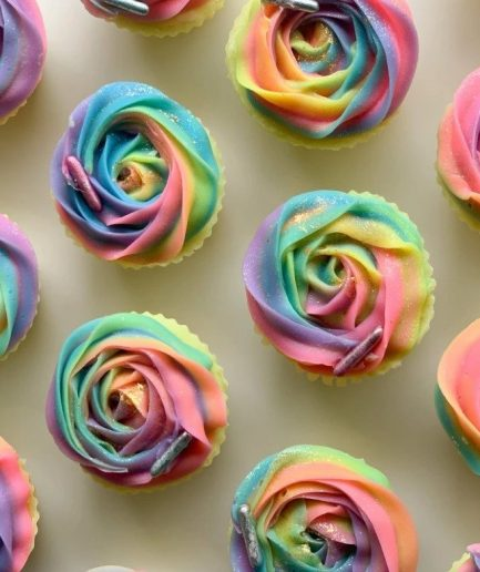 The Saas Bar Rainbow Rose Cupcake Soap