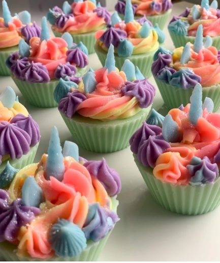 The Saas Bar Rainbow Unicorn Cupcake Soap