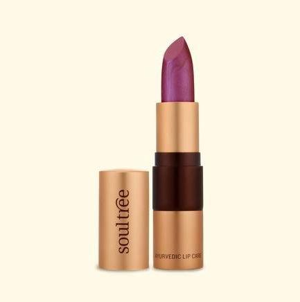 Soultree Lipstick Glowing Violet lipstick colour shade tone vegan vegetarian makeup cosmetics lips