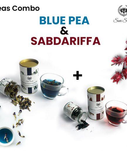 Seer Secrets TEA COMBO Blue Pea Tisane Flower Tea and Sabdariffa Tisane Flower Tea