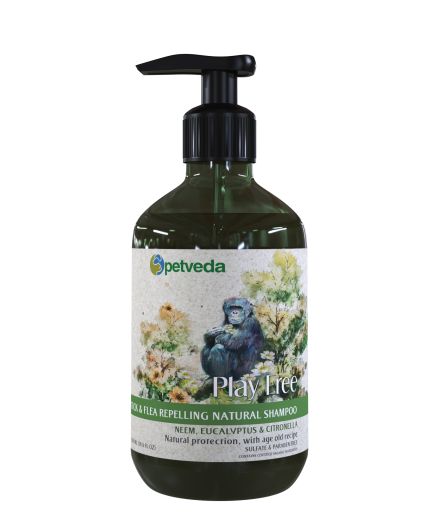 Petveda Play Free - Tick & Flea Repelling Natural Shampoo (500ml)